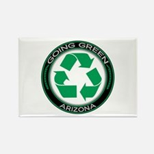 Going Green Arizona (Recycle) Rectangle Magnet