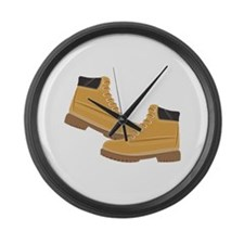 Work Boots Large Wall Clock