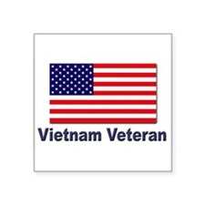 "Cute Flag of vietnam Square Sticker 3"" x 3"""