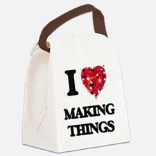 I Love Making Things Canvas Lunch Bag