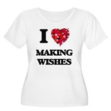 I love Making Wishes Plus Size T-Shirt