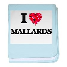 I Love Mallards baby blanket
