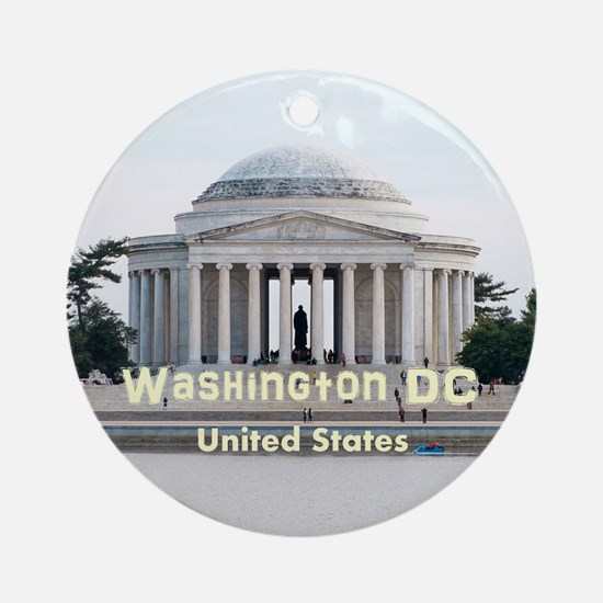 Washington DC Ornament (Round)
