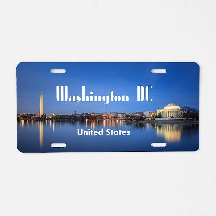 Washington DC Aluminum License Plate