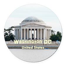 Washington DC Round Car Magnet