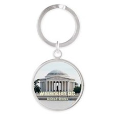 Washington DC Round Keychain