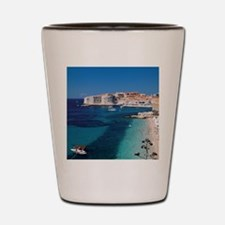 Croatia by the Beach  Shot Glass