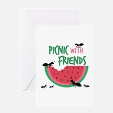 Picnic With Friends Greeting Cards