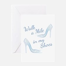 Walk A Mile Greeting Cards