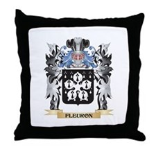 Fleuron Coat of Arms - Family Crest Throw Pillow