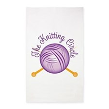 Knitting Circle Area Rug