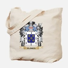 Flores Coat of Arms - Family Crest Tote Bag