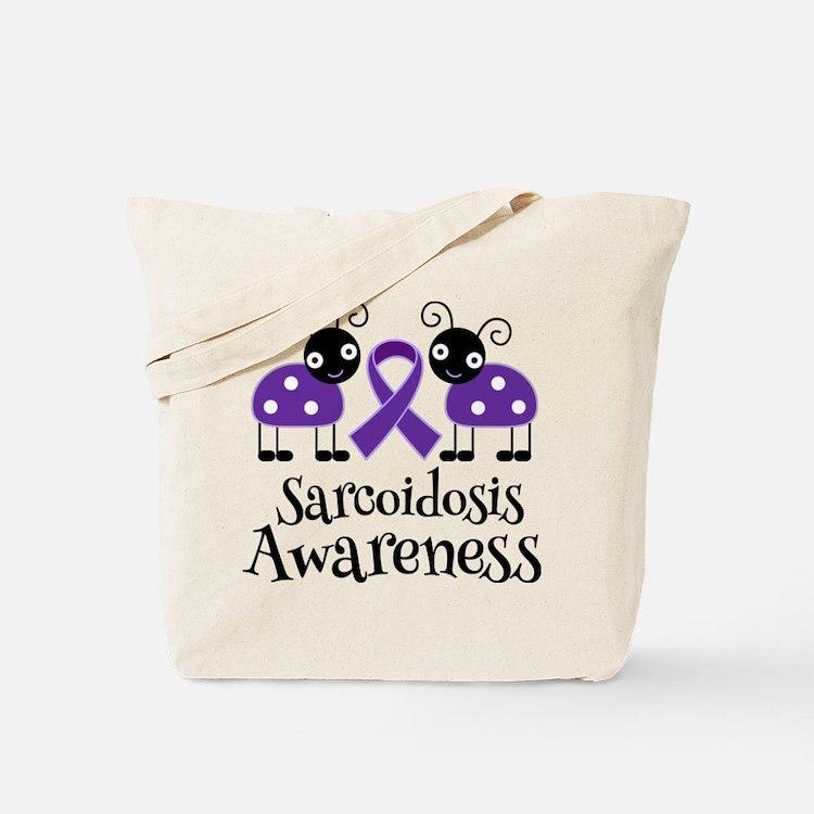 Sarcoidosis Awareness Ribbon Tote Bag