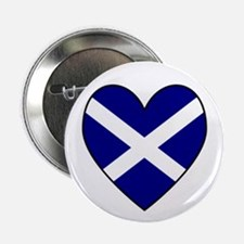 Scottish (Andrew) Flag Heart Button