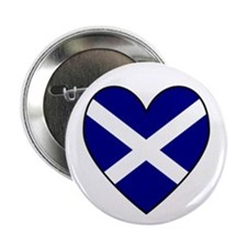 "Scottish (Andrew) Flag Heart 2.25"" Button (10 pack"