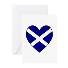 Scottish (Andrew) Flag Heart Greeting Cards (Packa