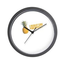 Cute Apple fruit Wall Clock