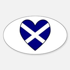 Scottish (Andrew) Flag Heart Oval Decal
