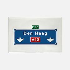 The Hague Roadmarker (NL) Rectangle Magnet