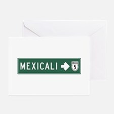 Mexicali Highway Sign (M Greeting Cards (Pk of 10)