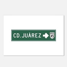 Ciudad Juarez Highway Sig Postcards (Package of 8)
