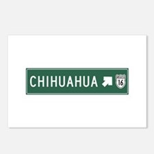 Chihuahua Highway Sign (M Postcards (Package of 8)