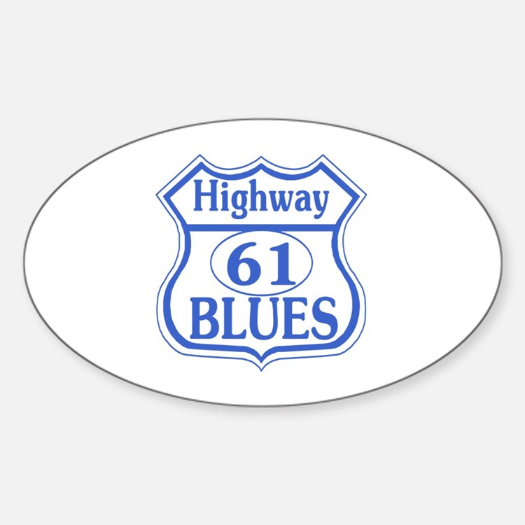 Highway 61 Blues Rectangle Decal