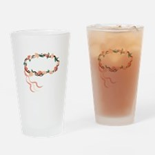 Floral Wreath Drinking Glass