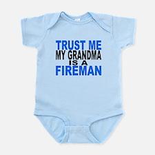 Trust Me My Grandma Is A Fireman Body Suit