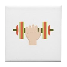 Barbell Tile Coaster