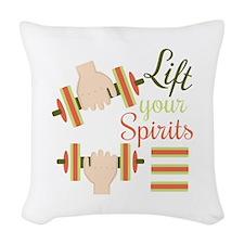 Lift Your Spirits Woven Throw Pillow