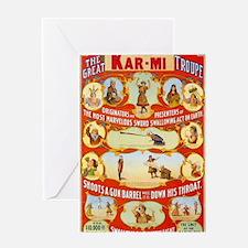 Kar-Mi and the Great Victorina Troup Greeting Card