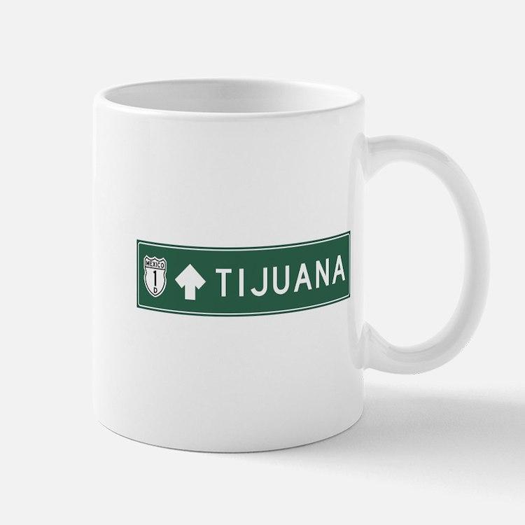 Tijuana Highway Sign (MX) Mug