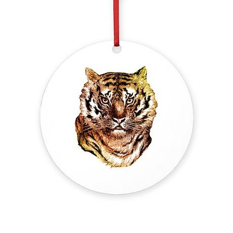 Tiger Face Ornament (Round)