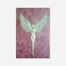 Golden Guardian Angel Rectangle Magnet