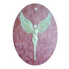 Golden Guardian Angel Oval Ornament