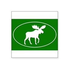 "Unique Moose Square Sticker 3"" x 3"""