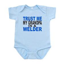 Trust Me My Grandpa Is A Welder Body Suit