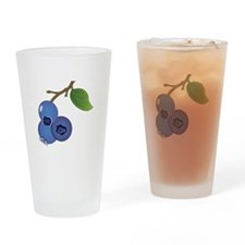 Blueberries Drinking Glass