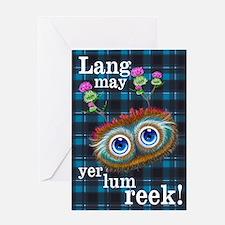 Hoots Toots Haggis. Scottish Sayings Greeting Card