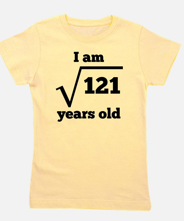 11th Birthday Square Root Girl's Tee