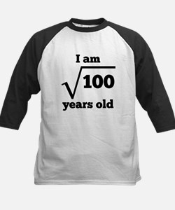 10th Birthday Square Root Baseball Jersey