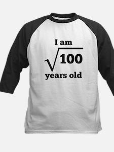 10th Birthday Square Root Baseball Jersey