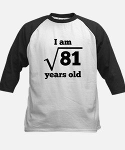 9th Birthday Square Root Baseball Jersey