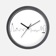 CHICAGO SKYLINE #CHI Wall Clock