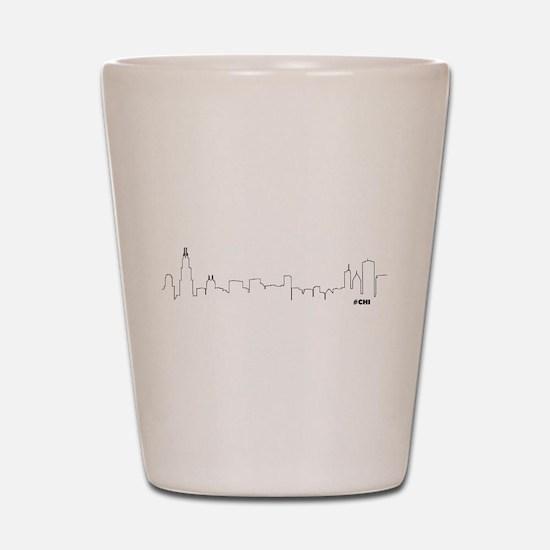 CHICAGO SKYLINE #CHI Shot Glass
