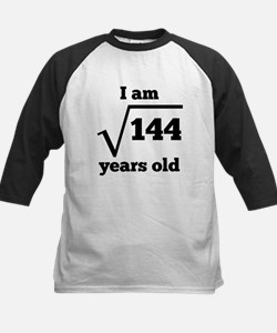 12th Birthday Square Root Baseball Jersey