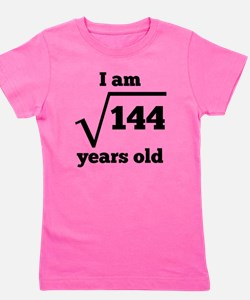 12th Birthday Square Root Girl's Tee