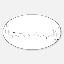CHICAGO SKYLINE #CHI Decal