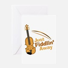 Fiddlin Away Greeting Cards